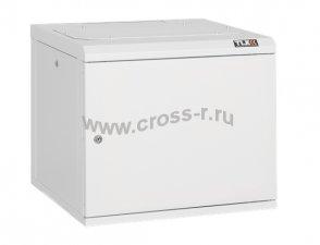 """Настенный шкаф 19"""", 15U, металлическая дверь, Ш530хВ732хГ500мм, цельносварной, серый ( TWC-155350-M-W-GY )"""