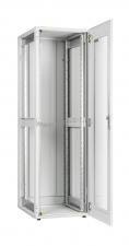 """Напольный шкаф серии Lite 19"""", 24U, стеклянная дверь, Ш600хВ1167хГ600мм, в разобранном виде, серый ( TFI-246060-GMMM-GY )"""