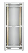 """Напольный шкаф 19"""", 42U, металлическая дверь, Ш800хВ2065хГ800мм, в разобранном виде, серый ( TFR-428080-MMMM-GY )"""