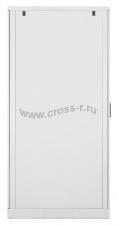 """Напольный шкаф 19"""", 24U, стеклянная дверь, Ш600хВ1280хГ800мм, в разобранном виде, серый ( TFL-246080-GMMM-GY )"""