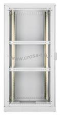 """Напольный шкаф 19"""", 33U, стеклянная дверь, Ш800хВ1680хГ1000мм, в разобранном виде, серый ( TFL-338010-GMMM-GY )"""