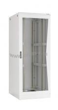 """Напольный шкаф 19"""", 42U, стеклянная дверь, Ш600хВ2080хГ600мм, в разобранном виде, серый ( TFL-426060-GMMM-GY )"""