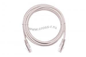 Коммутационный шнур NETLAN U/UTP 4 пары, Кат.5е (Класс D), 100МГц, 2хRJ45/8P8C, T568B, заливной, многожильный, BC (чистая медь), PVC нг(B), серый,  уп-ка 10шт. ( EC-PC4UD55B-BC-PVC-005-GY-10 )