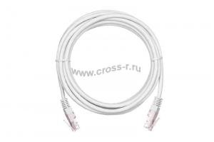 Коммутационный шнур NETLAN U/UTP 4 пары, Кат.5е (Класс D), 100МГц, 2хRJ45/8P8C, T568B, заливной, многожильный, BC (чистая медь), PVC нг(B), белый,  уп-ка 10шт. ( EC-PC4UD55B-BC-PVC-005-WT-10 )