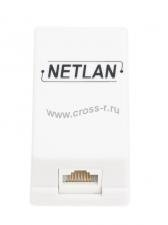 Настенная розетка NETLAN, 1 порт, Кат.5e (Класс D), 100МГц, RJ45/8P8C, 110, T568A/B, неэкранированная, белая, уп-ка 10шт. ( EC-UWO-1-UD2-WT-10 )