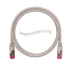 Коммутационный шнур NIKOMAX S/FTP 4 пары, Кат.6a (Класс Ea), 500МГц, 2хRJ45/8P8C, T568B, заливной, с защитой защелки, многожильный, BC (чистая медь), 26AWG (7х0,165мм), PVC нг(А), серый ( NMC-PC4SA55B-003-GY )