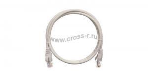 Коммутационный шнур NIKOMAX U/UTP 4 пары, Кат.5е (Класс D), 100МГц, 2хRJ45/8P8C, T568B, заливной, с защитой защелки, многожильный, BC (чистая медь), 24AWG (7х0,205мм), LSZH нг(А)-HFLTx, серый ( NMC-PC4UD55B-003-C-GY )