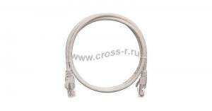 Коммутационный шнур NIKOMAX U/UTP 4 пары, Кат.5е (Класс D), 100МГц, 2хRJ45/8P8C, T568B, заливной, с защитой защелки, многожильный, BC (чистая медь), 24AWG (7х0,205мм), PVC нг(А), серый ( NMC-PC4UD55B-003-GY )
