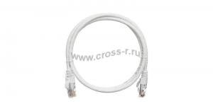 Коммутационный шнур NIKOMAX U/UTP 4 пары, Кат.5е (Класс D), 100МГц, 2хRJ45/8P8C, T568B, заливной, с защитой защелки, многожильный, BC (чистая медь), 24AWG (7х0,205мм), PVC нг(А) ( NMC-PC4UD55B-003-WT )