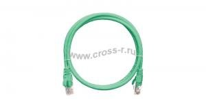 Коммутационный шнур NIKOMAX U/UTP 4 пары, Кат.5е (Класс D), 100МГц, 2хRJ45/8P8C, T568B, заливной, с защитой защелки, многожильный, BC (чистая медь), 24AWG (7х0,205мм), PVC нг(А), зеленый, 0,3м ( NMC-PC4UD55B-003-G )  ( NMC-PC4UD55B-003-GN ) ( NMC-PC4UD55B-050-GN )