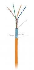 Кабель NETLAN F/UTP 4 пары, Кат.5e (Класс D), 100МГц, одножильный, BC (чистая медь), внутренний, LSZH нг(B)-HF, оранжевый, 305м ( EC-UF004-5E-LSZH-OR )