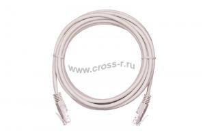 Коммутационный шнур NETLAN U/UTP 4 пары, Кат.5е (Класс D), 100МГц, 2хRJ45/8P8C, T568B, заливной, многожильный, CCA (омедненный алюминий), PVC нг(B), серый,  уп-ка 10шт. ( EC-PC4UD55B-005-GY-10 )