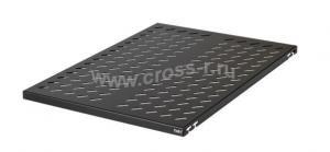 Полка стационарная TLK, Ш463хГ650мм, для шкафа и стойки со сварной рамой глубиной 1000мм, крепеж в комплекте, черная ( TLK-SHFS-650-BK )
