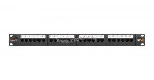 """Коммутационная панель NIKOMAX 19"""""""", 1U, 24 порта, Кат.5e (Класс D), 100МГц, RJ45/8P8C, 110/KRONE, T568A/B, неэкранированная, с органайзером, черная - гарантия: 5 лет расширенная / 25 лет системная ( NMC-RP24UD2-1U-BK )"""