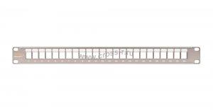 """Коммутационная панель NIKOMAX 19"""""""", 1U, наборная, под 24 модуля Keystone, UTP/STP, с заземлением, с органайзером, металлик ( NMC-RP24-BLANK-1U-MT )"""