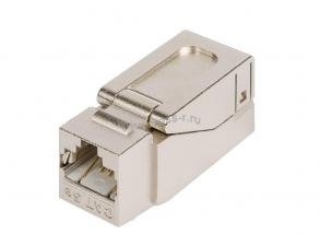 Модуль-вставка NIKOMAX типа Keystone, Кат.5е (Класс D), 100МГц, RJ45/8P8C, самозажимной, T568A/B, полный экран, металлик - гарантия: 5 лет расширенная / 25 лет системная ( NMC-KJSD2-NT-MT )