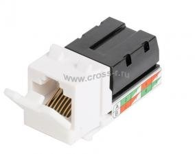 Модуль-вставка NIKOMAX типа Keystone, Кат.6 (Класс E), 250МГц, RJ45/8P8C, 110/KRONE, T568A/B, неэкранированный, белый - гарантия: 5 лет расширенная / 25 лет системная ( NMC-KJUE2-WT )