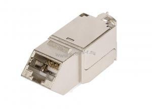 Модуль-вставка NIKOMAX типа Keystone, угловой, для панели серии AN, Кат.6a (Класс Ea), 500МГц, RJ45/8P8C, FT-TOOL/110/KRONE, T568A/B, полный экран, металлик - гарантия: 5 лет расширенная / 25 лет системная ( NMC-KJSA2-AN-MT )