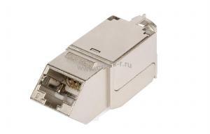 Модуль-вставка NIKOMAX типа Keystone, угловой, для панели серии AN, Кат.6 (Класс E), 250МГц, RJ45/8P8C, FT-TOOL/110/KRONE, T568A/B, полный экран, металлик - гарантия: 5 лет расширенная / 25 лет системная ( NMC-KJSE2-AN-MT )