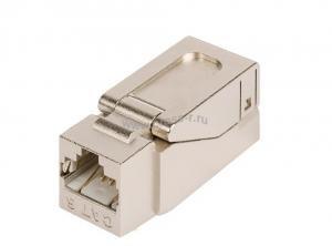 Модуль-вставка NIKOMAX типа Keystone, Кат.6 (Класс E), 250МГц, RJ45/8P8C, самозажимной, T568A/B, полный экран, металлик - гарантия: 5 лет расширенная / 25 лет системная ( NMC-KJSE2-NT-MT )