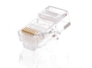 Коннектор NETLAN RJ45/8P8C под витую пару, Кат.5e (Класс D), 100МГц, покрытие 3мкд, универсальные ножи, для проводников 0,47-0,51мм, неэкранированный, уп-ка 1000шт. ( EC-UP8P8C-5E-003-TR-1000 )
