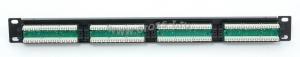 """Коммутационная панель ULAN 19"""""""", 1U, 24 порта, Кат.5e (Класс D), 100МГц, RJ45/8P8C, 110/KRONE, T568A/B, неэкранированная, черная ( UEC-URP-24-UD2 )"""