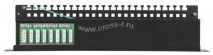"""Коммутационная панель NETLAN 19"""""""", 1U, 24 порта, Кат.5e (Класс D), 100МГц, RJ45/8P8C, 110/KRONE, T568A/B, экранированная, черная ( EC-URP-24-SD2 )"""