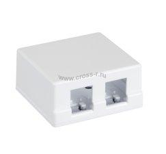 Корпус настенной розетки NETLAN, под 2 модуля-вставки типа Keystone, белый, уп-ка 10 шт. ( EC-UWO-2KJ-WT-10 )