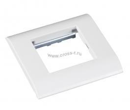 Настенная лицевая панель NETLAN под 1 вставку Mosaic, 45x45, с подрамником, белая, уп-ка 10 шт. ( EC-FPM-1-WT-10 )