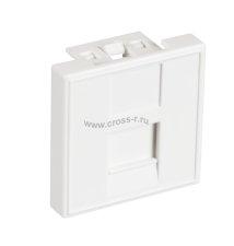 Вставка NETLAN типа Mosaic 45x45мм, 1 порт, под модули-вставки типа Keystone, со шторкой, белая, уп-ка 10 шт. ( EC-IMF-1-WT-10 )