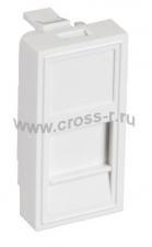 Вставка NETLAN типа Mosaic 22,5x45мм, 1 порт, под модули-вставки типа Keystone, со шторкой, белая, уп-ка 10 шт. ( EC-IMH-1-WT-10 )