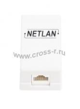 Кабельный соединитель NETLAN RJ45-RJ45 (8P8C), Кат.5e (Класс D), 100МГц, неэкранированный, белый, уп-ка 10шт. ( EC-UCB-55-UD2-WT-10 )