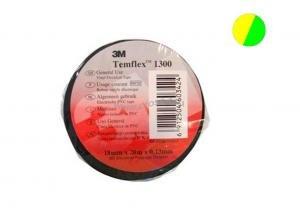 7100081324 Temflex 1300, желто-зеленая, универсальная изоляционная лента, 15мм х 10м х 0,13мм ( 120805-00031 )