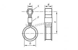 Подвес металлический кабелей связи П-23, упаковка 130 шт ( 120810-00015 )