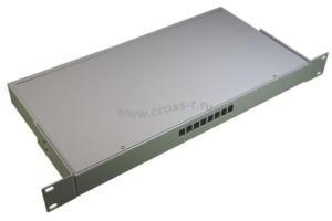 Кросс оптический стоечный 1U под 8 портов SC/LC (пустой) (сплошная планка, монтажный комплект) ( КРС-8SC-1U NULL спл. пл. )