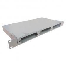 Кросс оптический стоечный 1U под 24 порта (SC,FC,ST,LC) (пустой) под 3 смен. планки (монтажный комплект) ( КРС-24-1U NULL под 3 пл. )