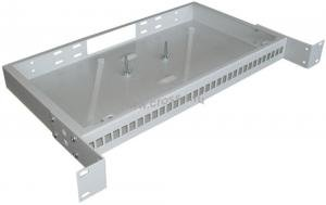 Кросс оптический стоечный 1U под 32 порта SC/LC (пустой) (сплошная планка, монтажный комплект) ( КРС-32SC-1U NULL спл. пл. )