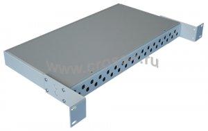 Кросс оптический стоечный 1U под 32 порта FC/ST (пустой) (сплошная планка, монтажный комплект) ( КРС-32FC-1U NULL спл. пл. )