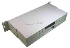 Кросс оптический стоечный 2U под 48 портов (SC,FC,ST,LC) (пустой) (6 смен. планок по 8, монтажный комплект) ( КРС-48-2U NULL под 6 пл. )