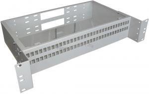 Кросс оптический стоечный 2U под 64 порта SC/LC (пустой) (сплошная планка, монтажный комплект) ( КРС-64SC-2U NULL спл. пл. )