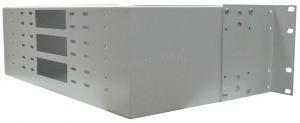 Кросс оптический стоечный 3U под 96 портов (SC,FC,ST,LC) пустой под 12 смен. планок по 8п (монтажный комплект). ( КРС-96-3U NULL под 12 пл. )