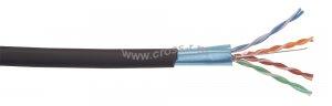 Витая пара ITK F/UTP кат.5E 4х2х24AWG solid LDPE 305м (черный) ( LC3-C5E04-339 )