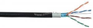 Витая пара ITK F/UTP кат.5E 4х2х24AWG solid LSZH/LDPE (черный) ( LC3-C5E04-389 )