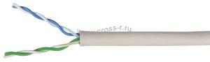 Витая пара ITK U/UTP кат.5E 2х2х24AWG solid PVC 500м (серый) ( LC1-C5E02-111 )