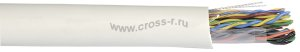 Витая пара ITK U/UTP кат.5E 2х2х24AWG solid LSZH 500м (серый) ( LC1-C5E02-121 )