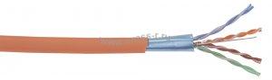 Витая пара ITK F/UTP кат.5E 4x2х24AWG solid LSZH 305м (оранжевый) ( LC1-C5E04-327 )