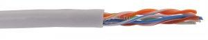 Витая пара ITK U/UTP кат.5E 4х2х24AWG PATCH 500м (серый) ( LC2-C5E04-111 )