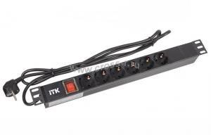 Блок ITK PDU на 6 розеток ( PH12-6D1-P )