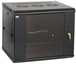 Шкаф ITK LINEA W 6U 600x600 мм дверь стекло, RAL9005 ( LWR5-06U66-GF )