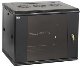 Шкаф ITK LINEA W 12U 600x600 мм дверь стекло, RAL9005 ( LWR5-12U66-GF )